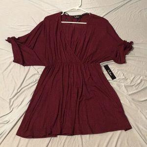 Burgundy LuLus dress
